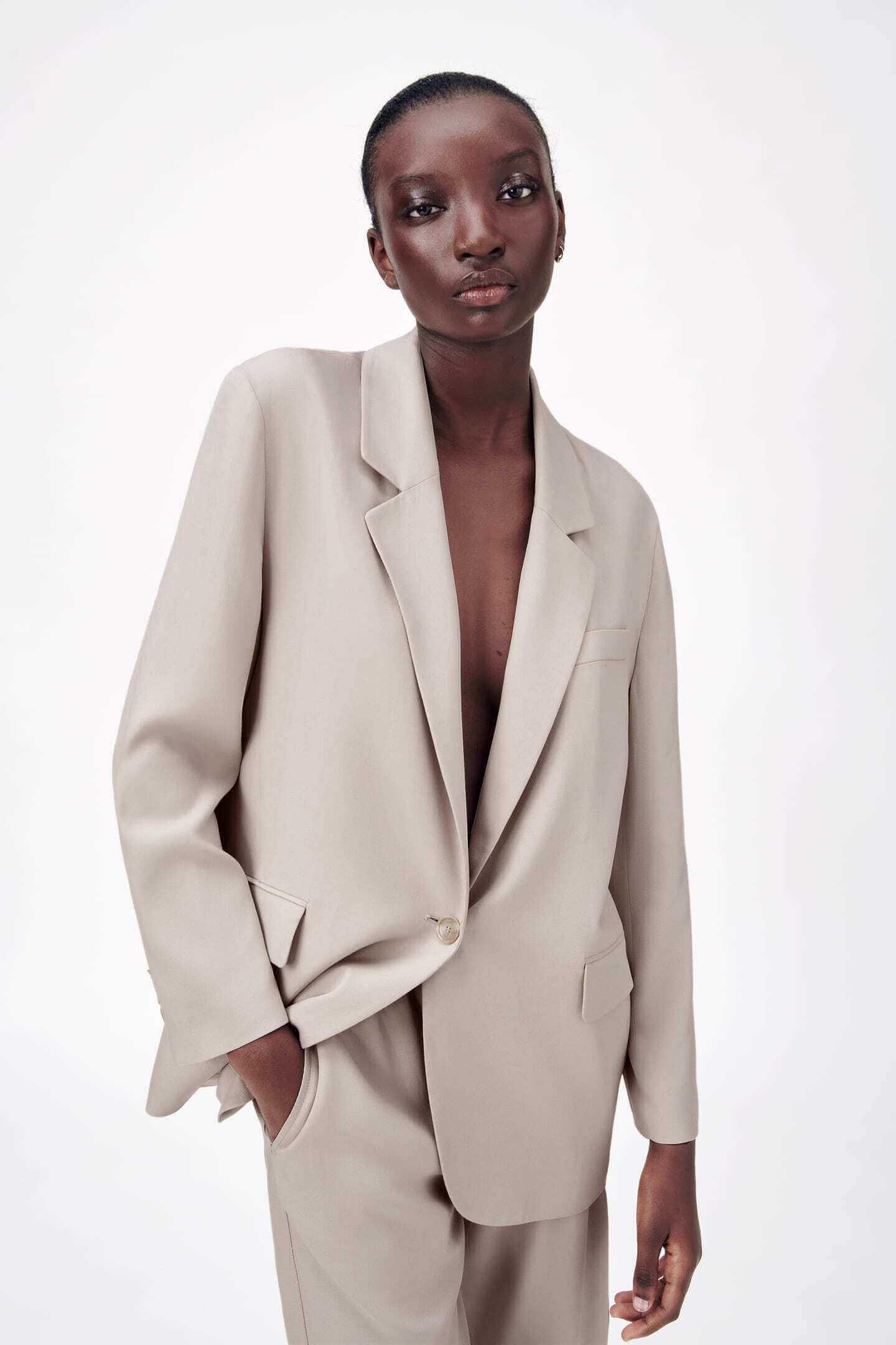 Blazer oversized da Zara