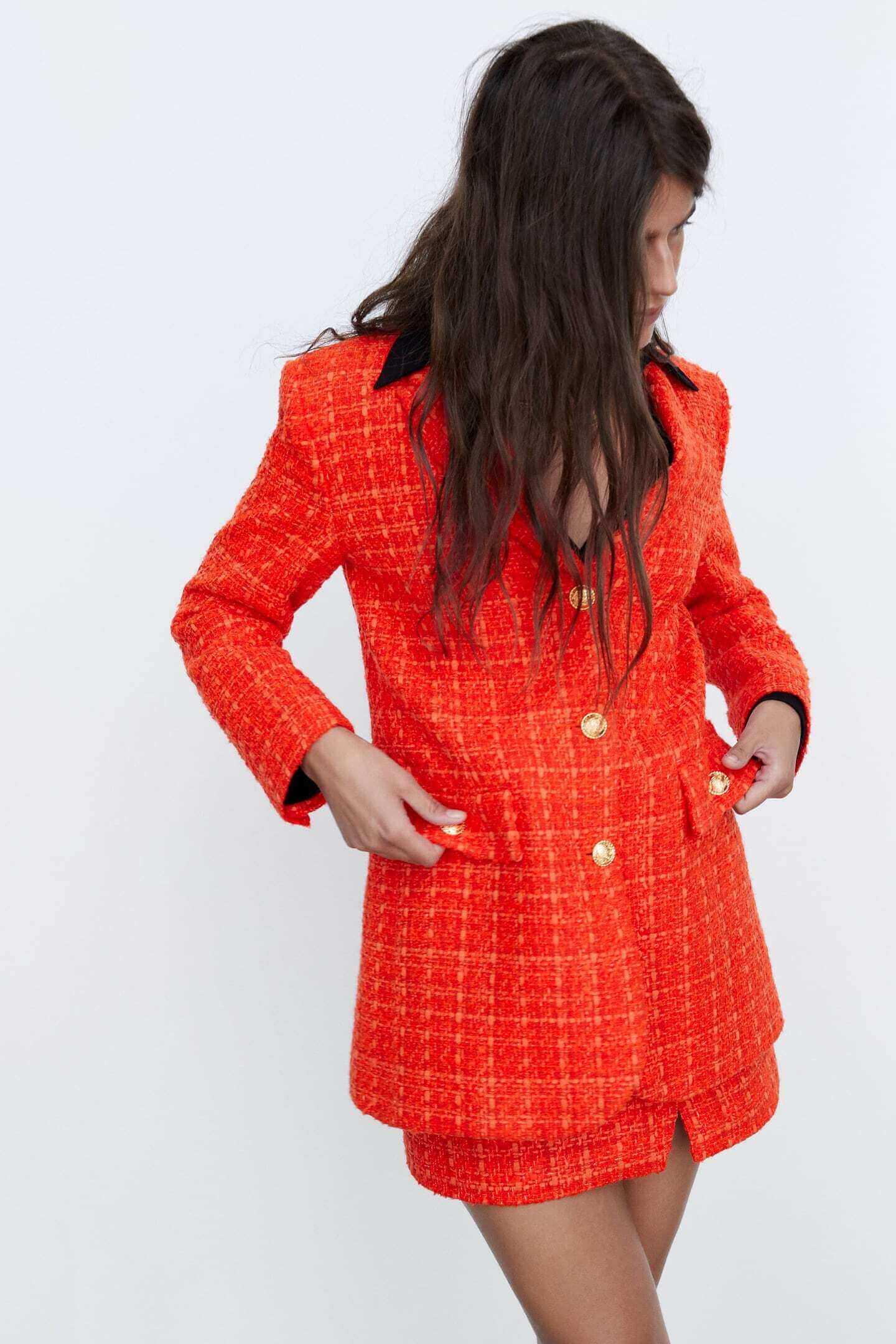 Fato Matching Set com forro estampado da Zara